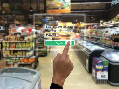 internet of things marketing concepts,smart augmented reality,customer us ar application to login to the system for buy,search a product,special price, for security reason
